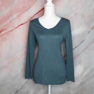 FADED GLORY Teal Green Long Sleeve Top